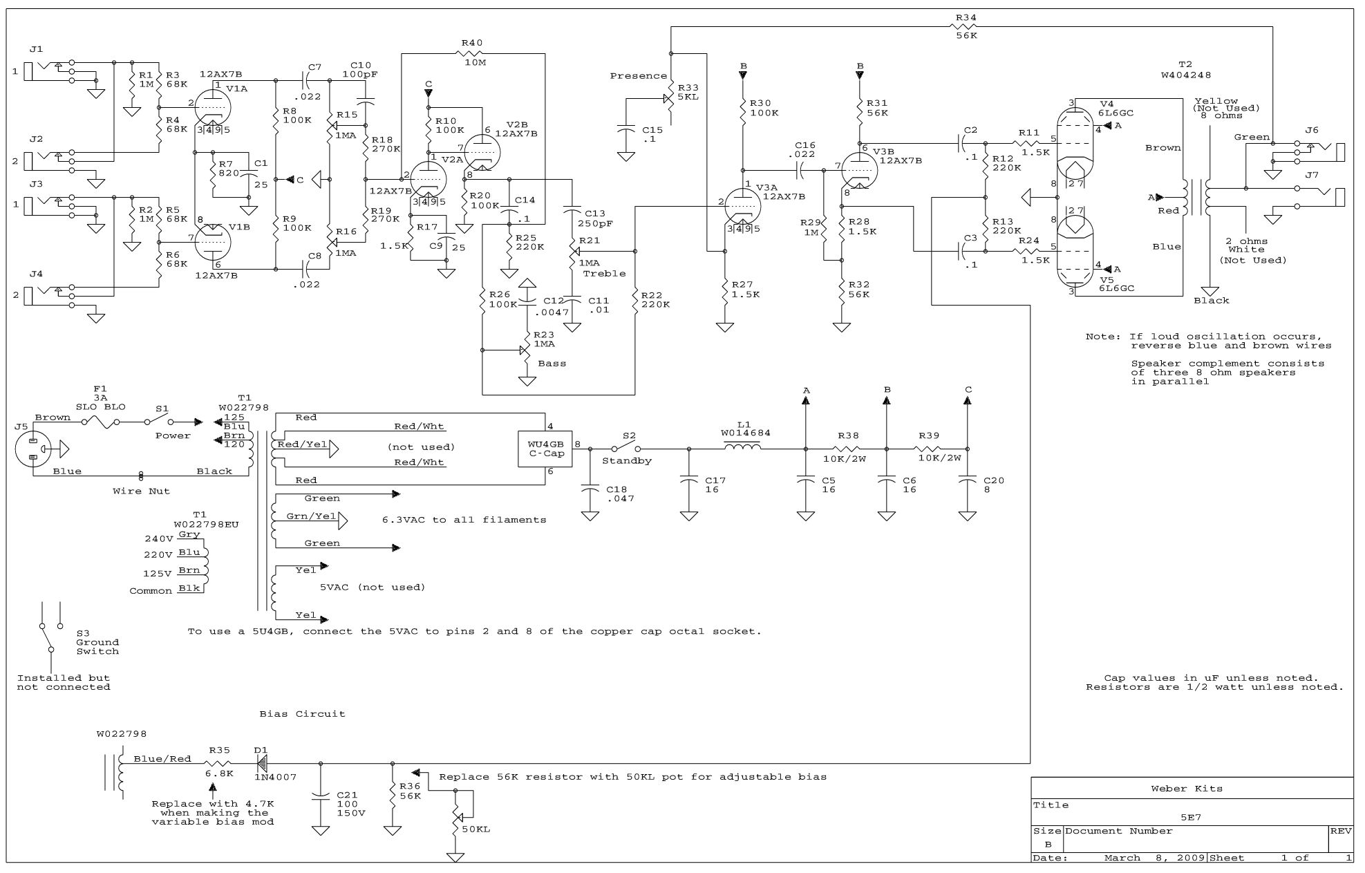 Fender Bandmaster Wiring Diagram - Wiring Diagrams on