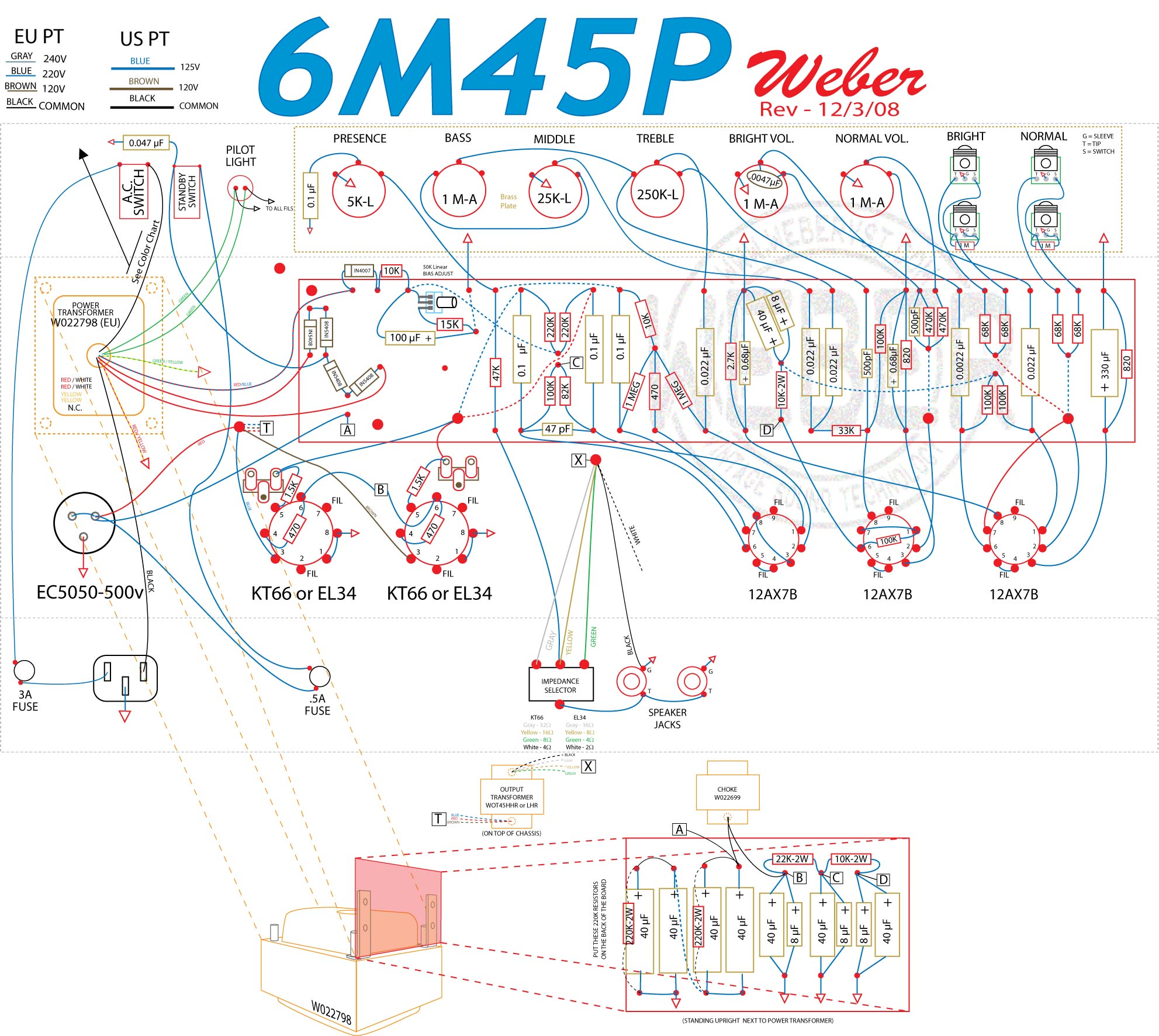 6m45p Amp Kit