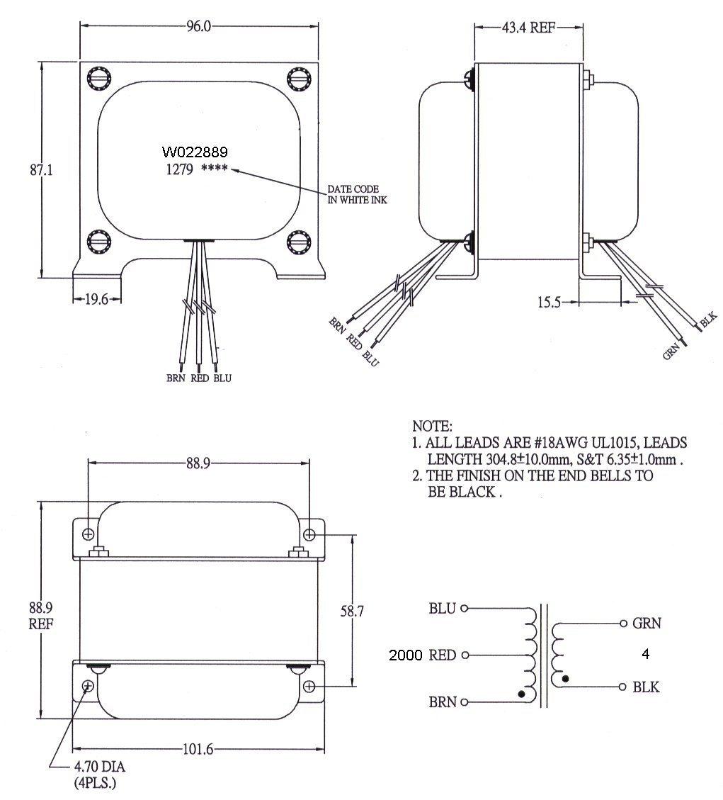 w022889sch w022889 transformer mercury magnetics transformer wiring diagram at mifinder.co