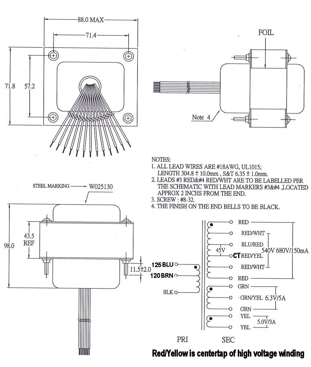 W025130 Transformer Usa Power Wiring Diagram Click For Specs