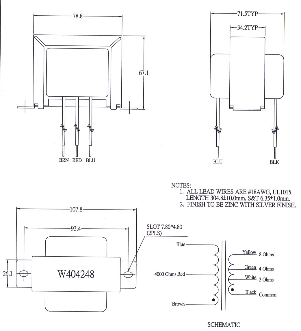 W404248 Transformer Wiring Multiple Transformers In Series Weber And Chokes Are Replacements For Vintage Units Use New Designs Some Of The Power Have Increased Current Capacity