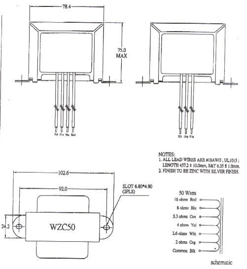 wzc-50 transformer,