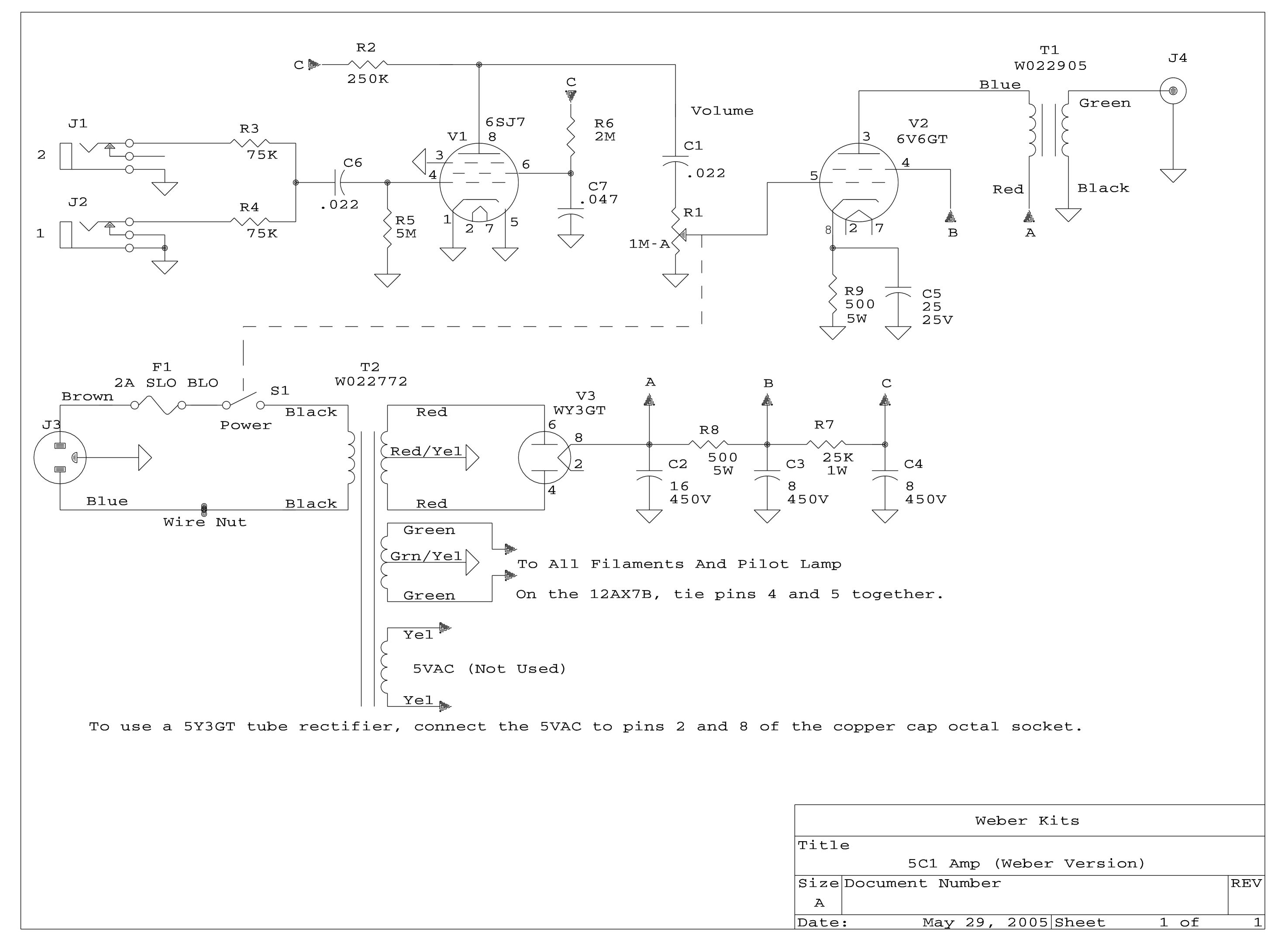 Diy Kits Weber Wiring Diagrams 5c1 Bom Layout Schematic
