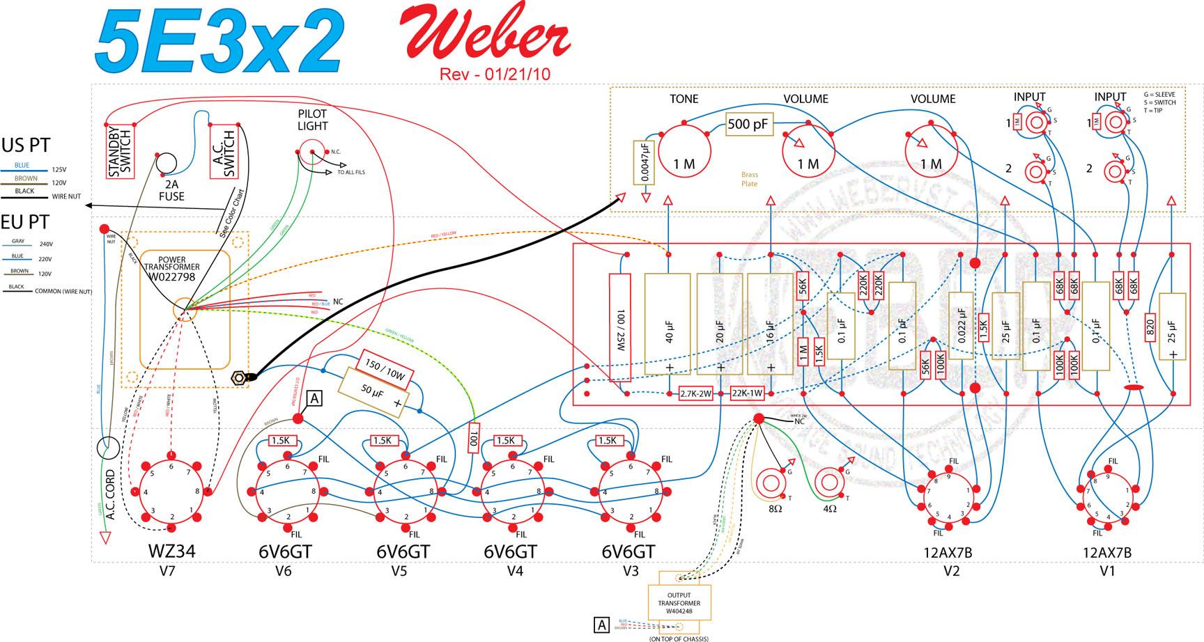 5E3x2 Amp Kit on 5f1 schematic, fender excelsior schematic, princeton reverb schematic, 100 watt marshall schematic, silver tone 1472 amp schematic, fender m 80 schematic, klon schematic, guitar amp circuit board schematic, supro schematic, boss ce 5 schematic, deluxe 6g3 schematic, cry baby foot pedal schematic, fender deluxe schematic, 5c1 schematic, vox ac15 schematic,