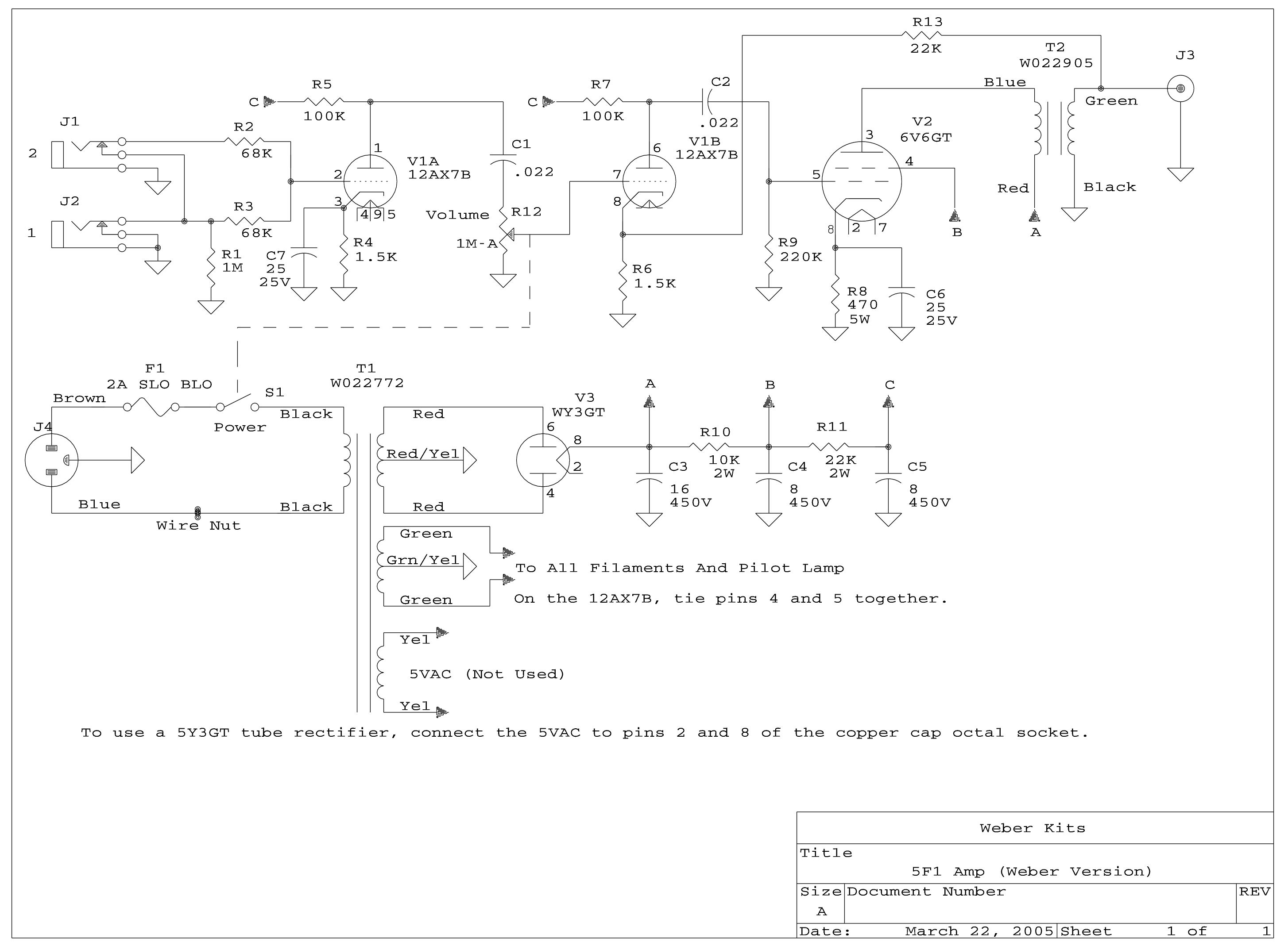 5f1 Amp Kit Weber Wiring Diagrams Schematic