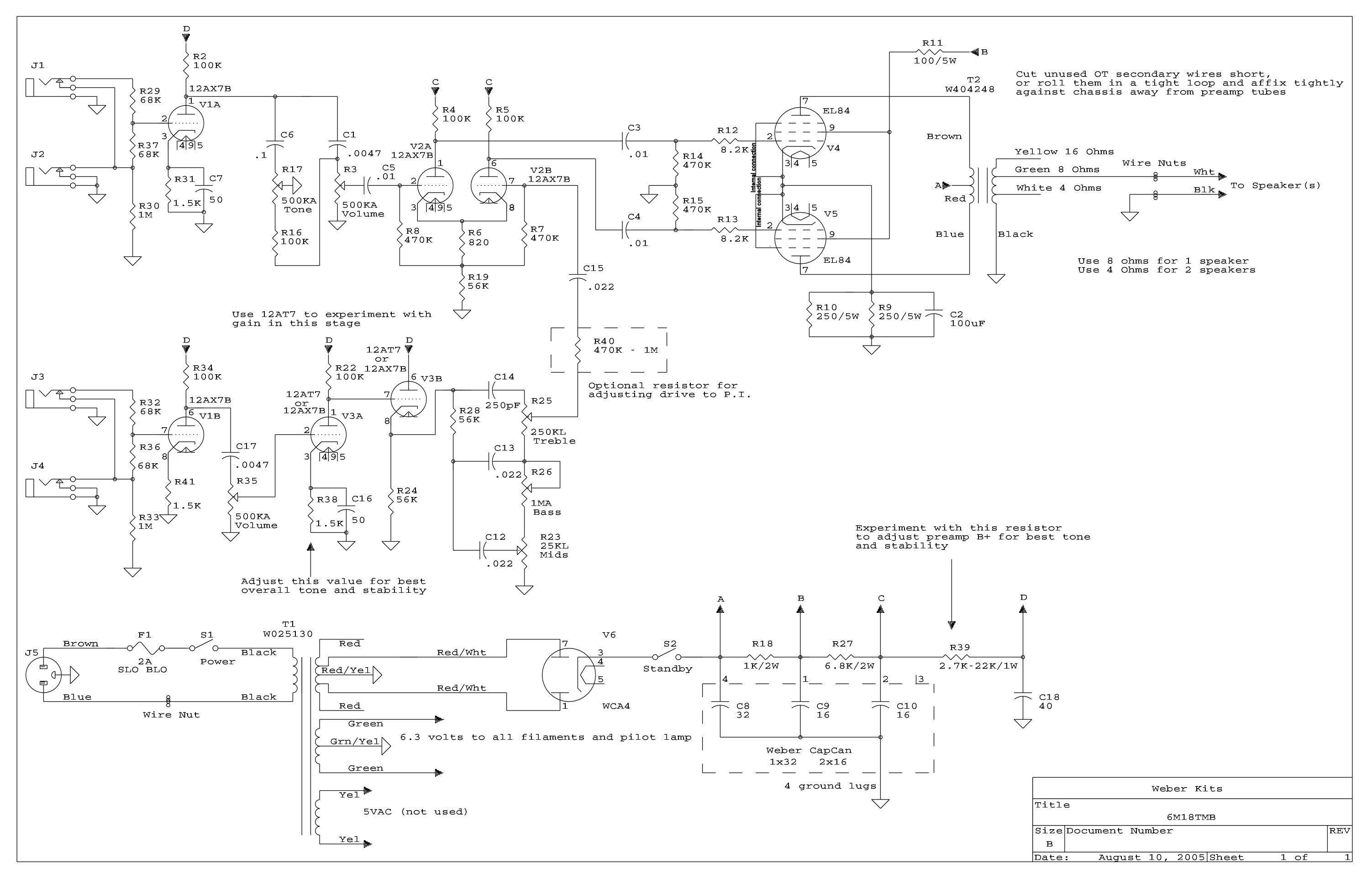 marshall amp schematic 6m18    amp    kit  6m18    amp    kit