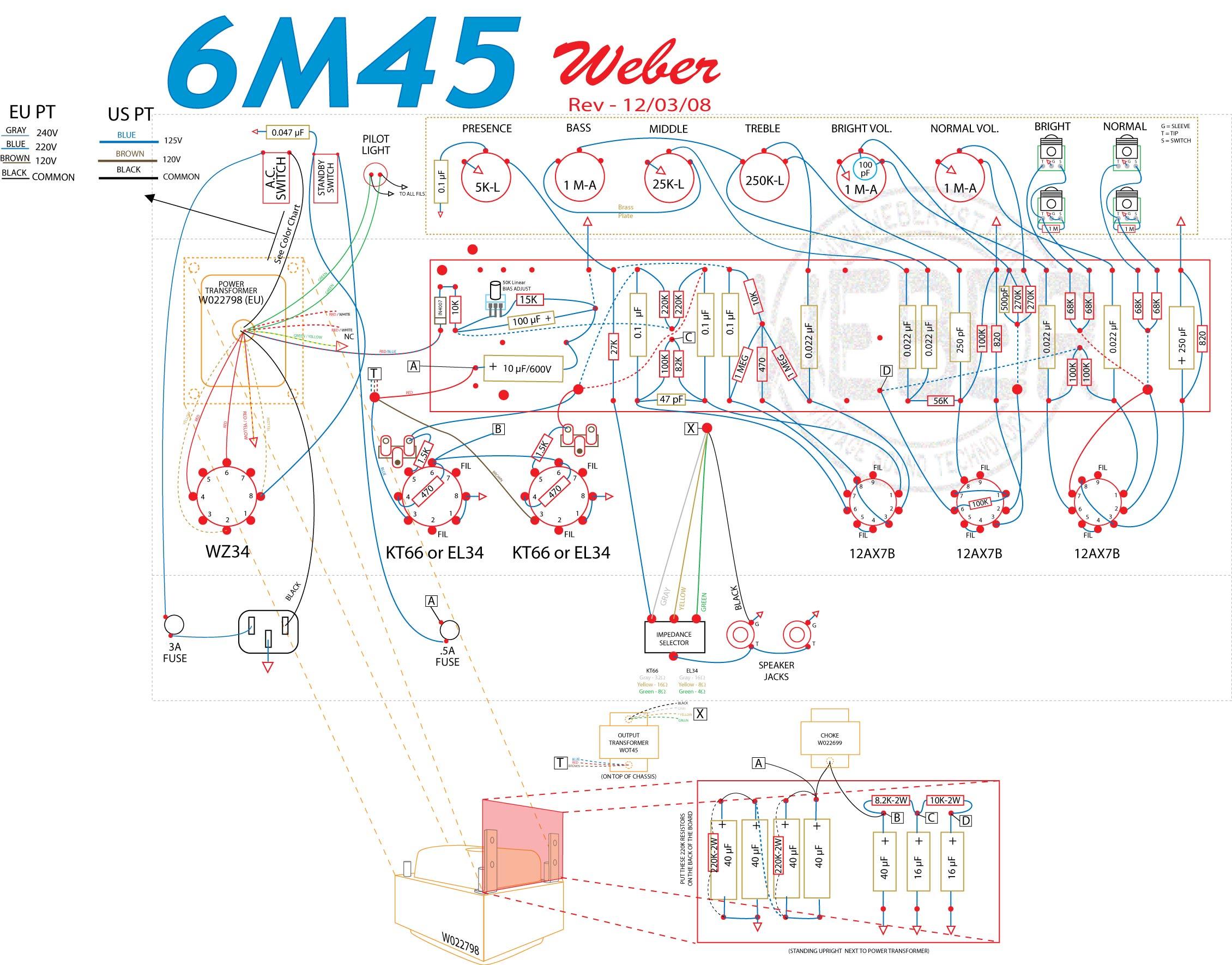 marshall amp schematic 6m45    amp    kit  6m45    amp    kit