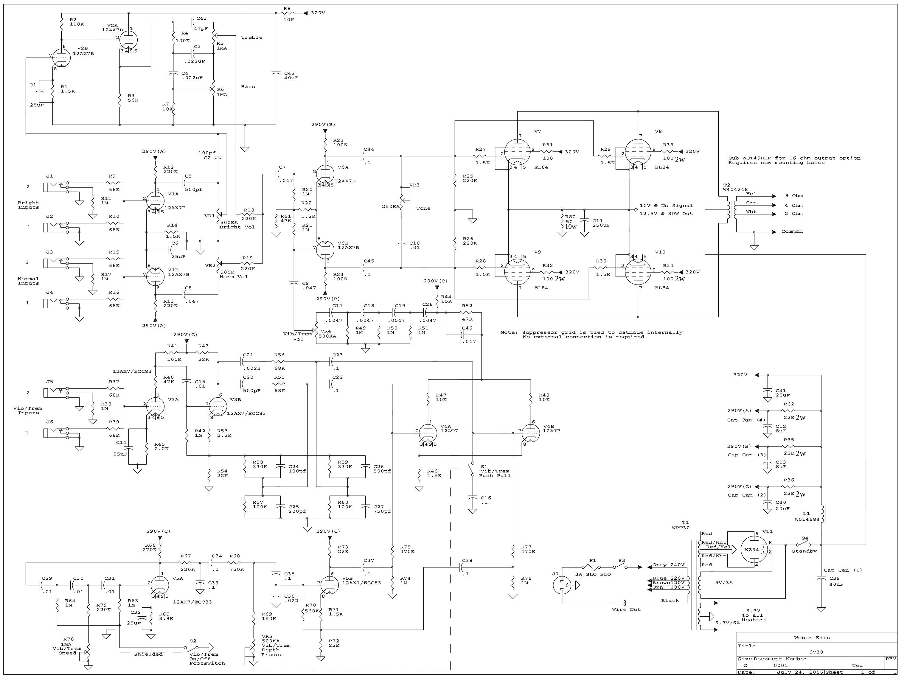 6v30_schem 6v30 amp kit weber ksg 470 wiring diagrams at crackthecode.co