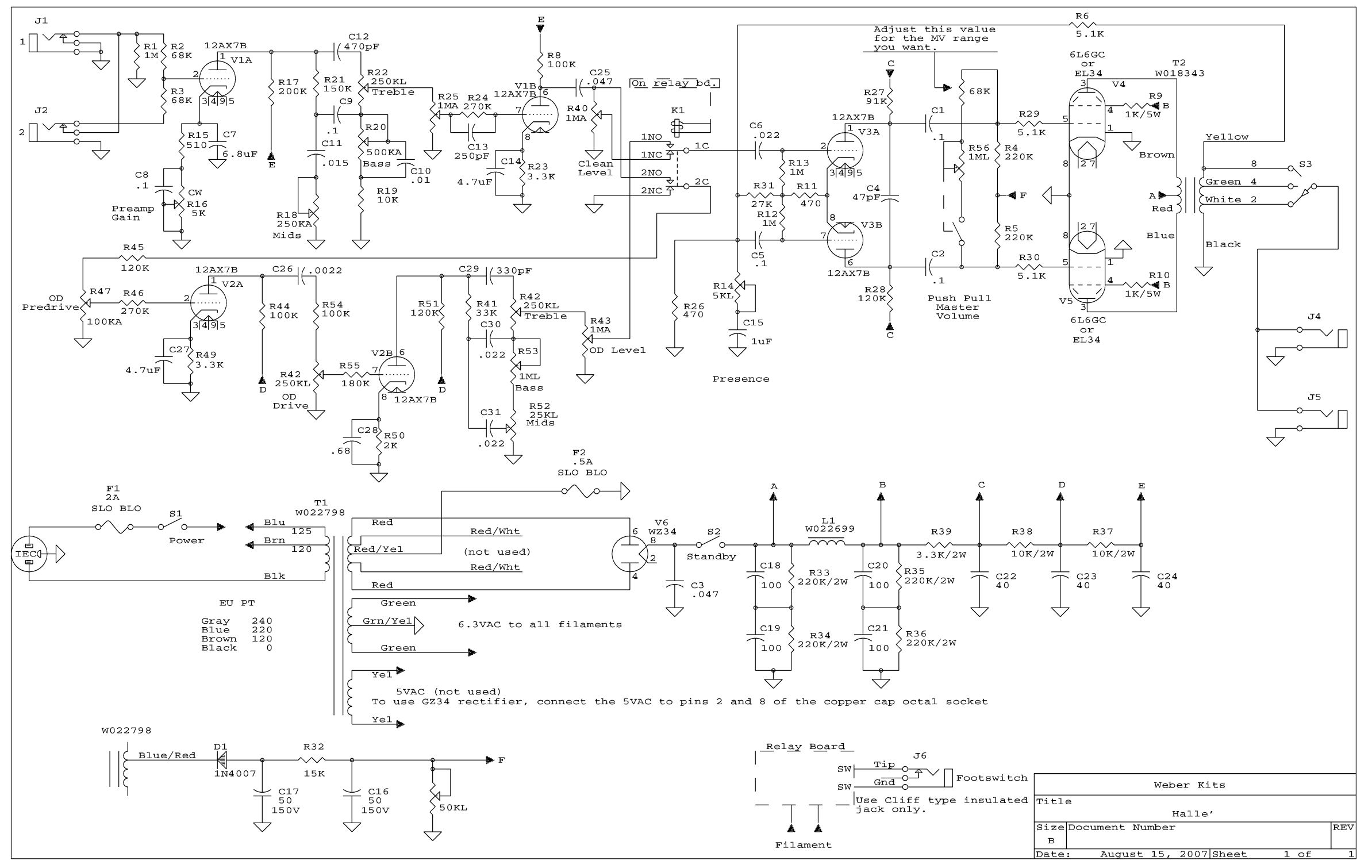 dumble amp wiring diagram